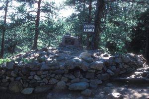 Helen Hunt Jackson's grave in Colorado Springs, CO